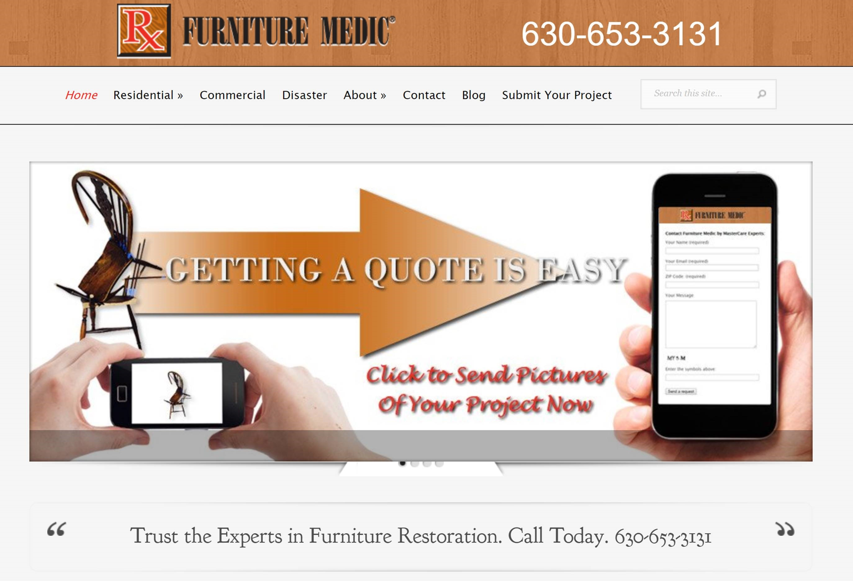 furniture medic web design case study