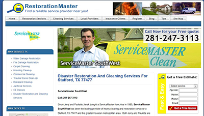 ServiceMaster SouthWest of Stafford, TX is the Latest to Join RestorationMasterFinder.com
