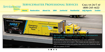 ServiceMaster Website Redesign by Proceed Innovative