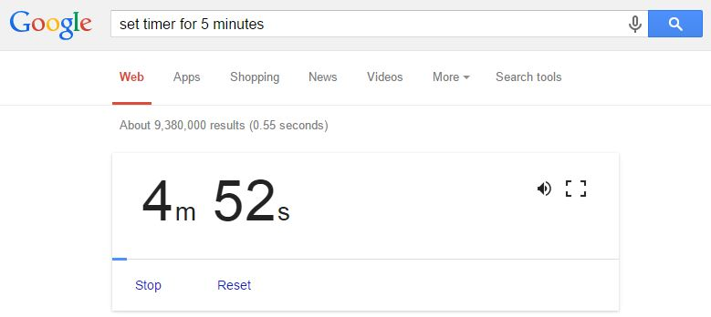 Google set timer tip