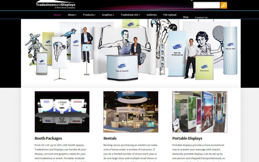 Proceed Innovative Redesigns and Launches Website for Tradeshows and Displays with SEO Friendly and Responsive Design