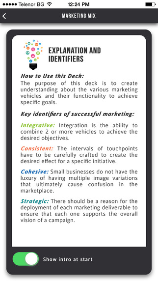 Marketing Mix Card 3