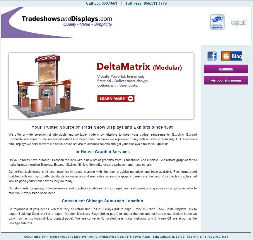 tradeshowsanddisplays.com old webiste