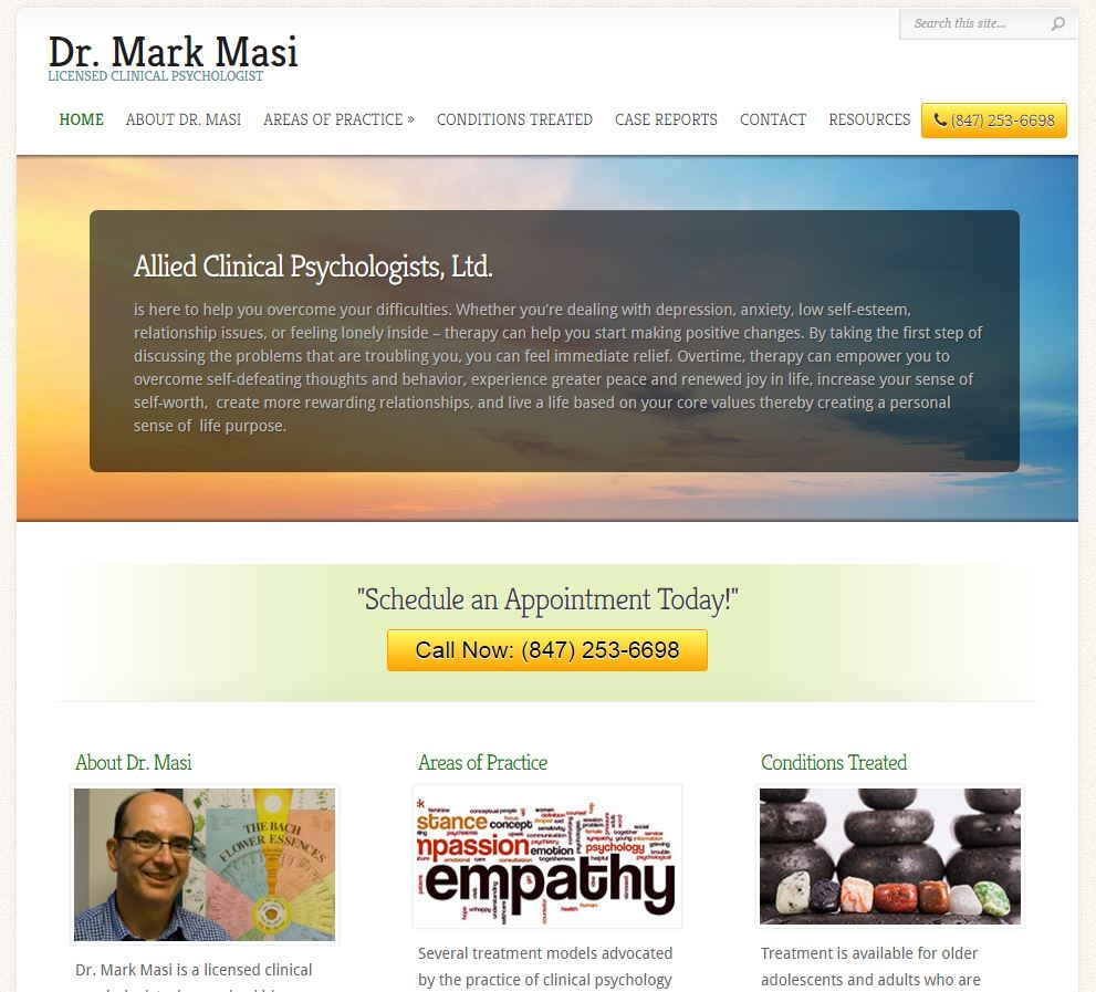 dr masi - seo web design project