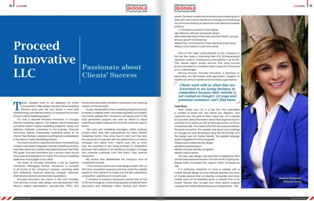 Proceed Innovative Featured in CIO Story Magazine