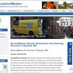 New Olympia, WA Micro-Site Added to RestorationMaster to Increase Online Marketing for ServiceMaster of Tacoma