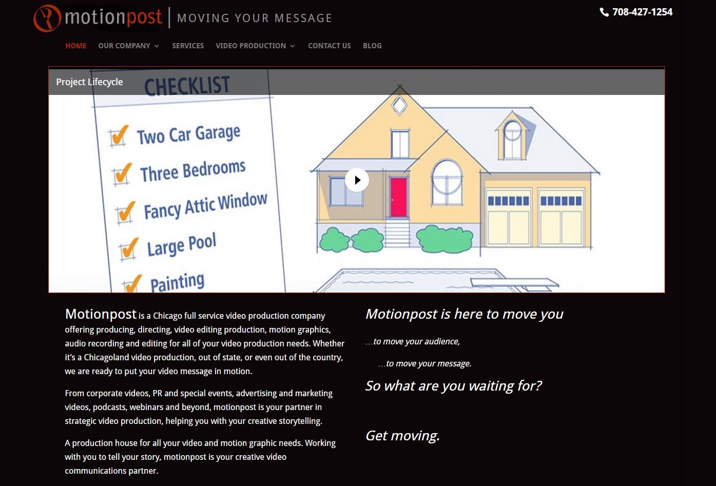 Motionpost-video-production Homepage Screenshot