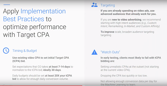 Optimize Performance with Target CPA