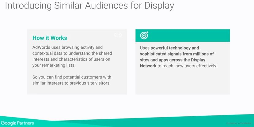 similar audiences for Display