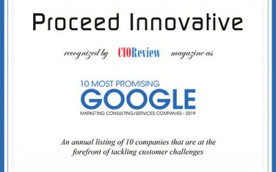 Proceed Innovative Named One of the 10 Most Promising Google Marketing Consulting Companies of 2019